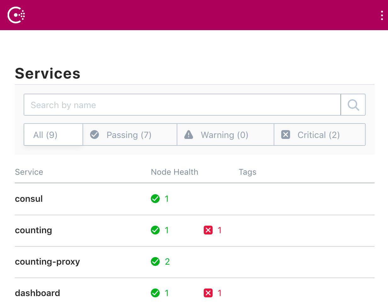 Consul Web UI